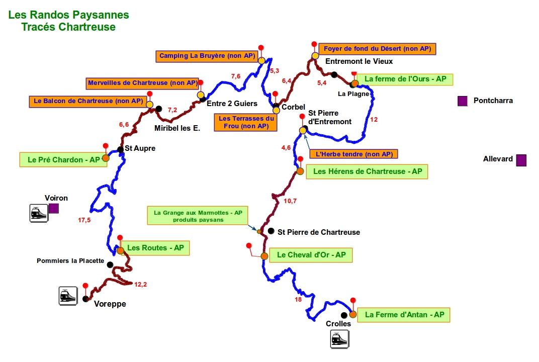 tracés Chartreuse